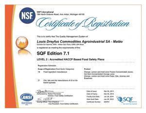 橘寶-nsf-食品廠認證