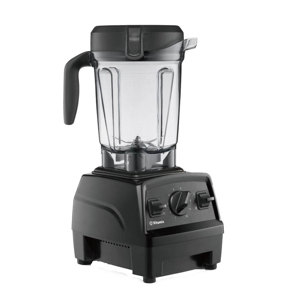Vitamix調理機-E320-黑色-右側面-2公分容杯