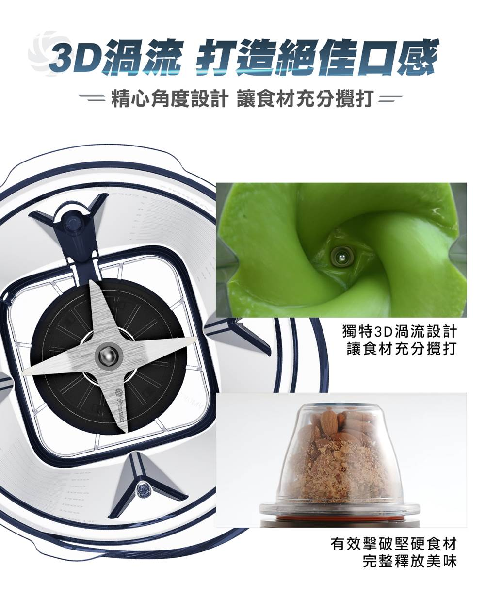 Vitamix-A3500i超跑級調理機-Ascent-3D渦流設計_釋放完整美味